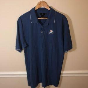 Nike Golf NBC Sports Large Golf Polo Blue